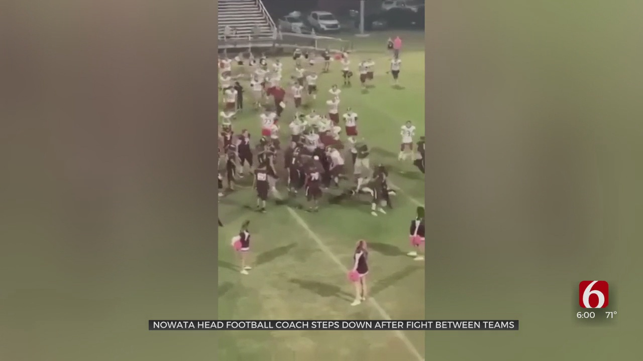 Nowata Head Football Coach Steps Down After Fight Breaks Out At Game Against Dewey