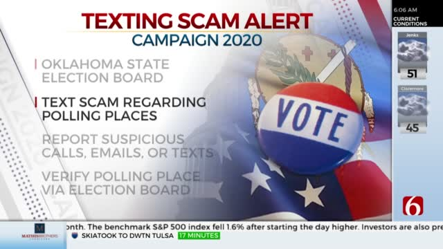 Oklahoma Election Officials Warn Voters About False Polling Place Text Message