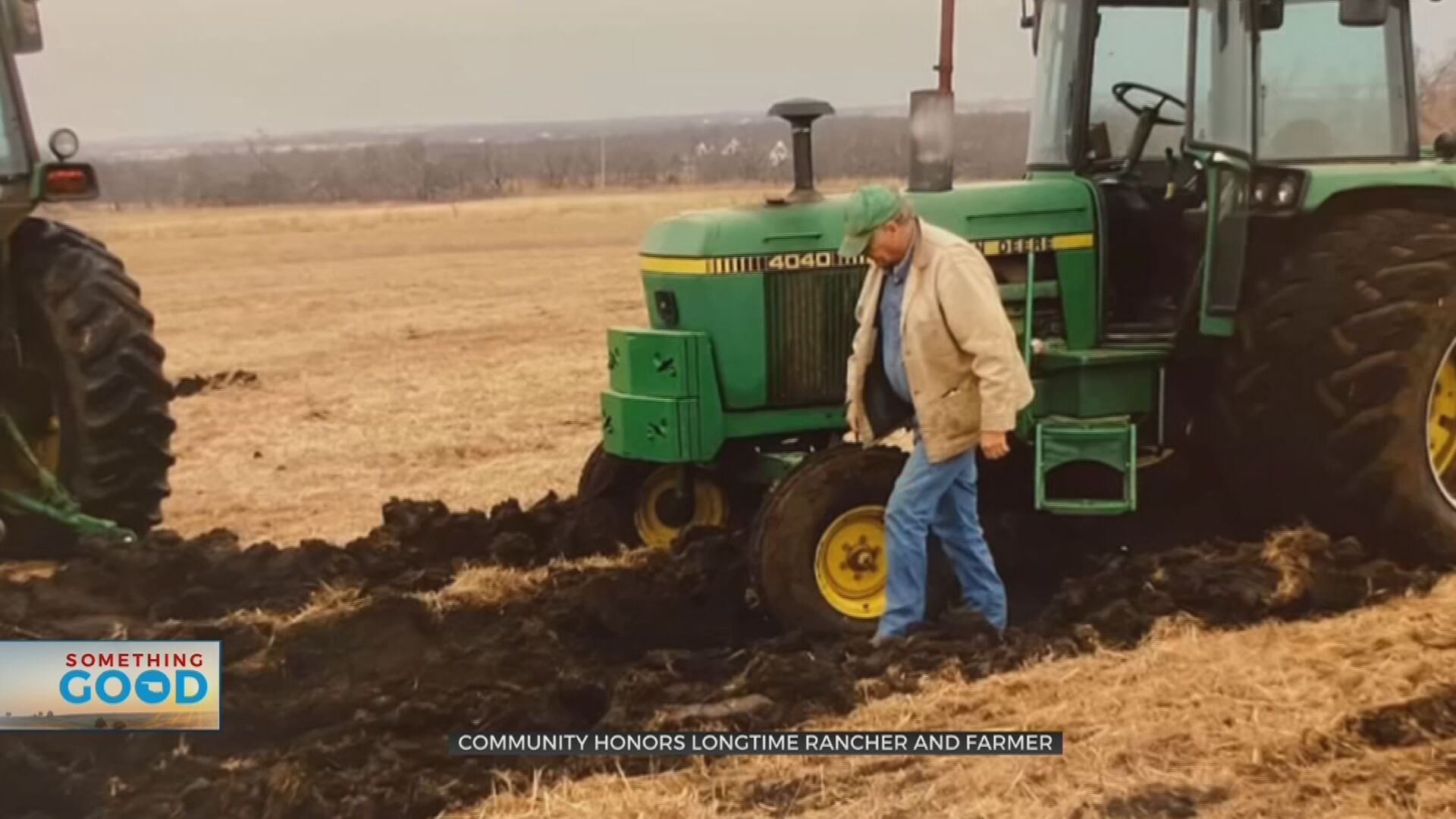 Collinsville Community Honors Longtime Rancher, Farmer With Tractor Procession