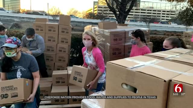 Cherokee Nation Gave Emergency Food, Essential Supplies To Texans