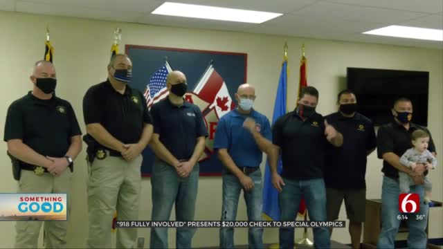 First Responders Group Makes Donation To Special Olympics, Firefighters Burn Camp
