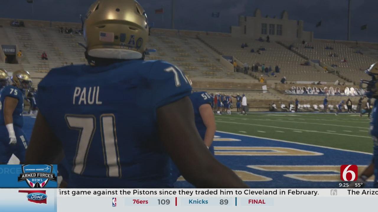 Tulsa Offensive Lineman Hopes To Make Mark On The World