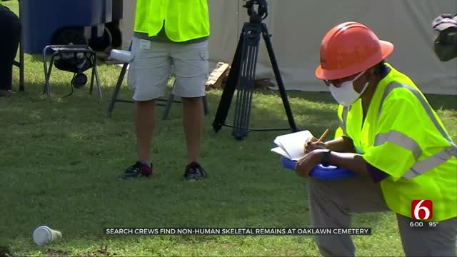 Search Crews Find Non-Human Skeletal Remain At Oaklawn Cemetery
