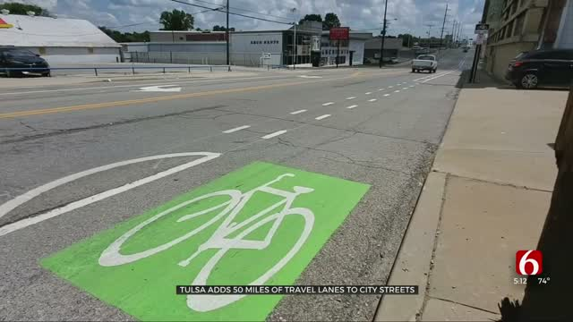 City Adds Bike Lanes To Urge Drivers To 'Share The Road'