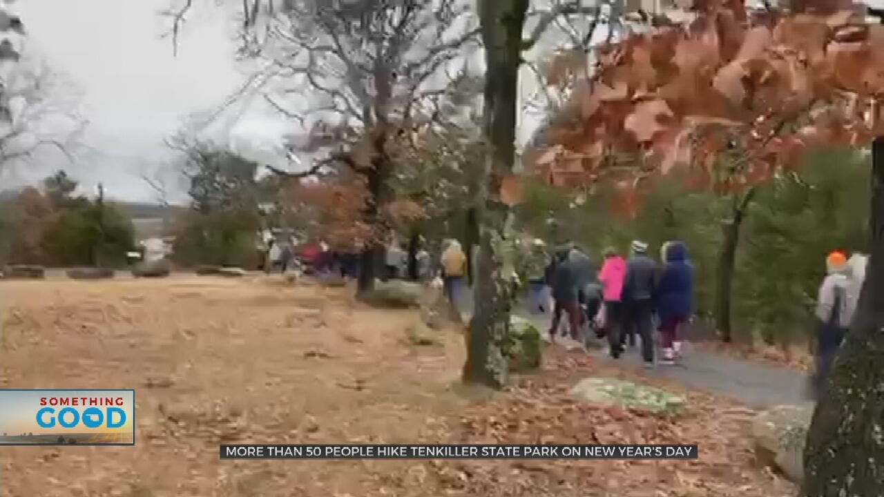 Hikers Gather At Tenkiller State Park On New Year's Day For 'First Day Hikes' Event