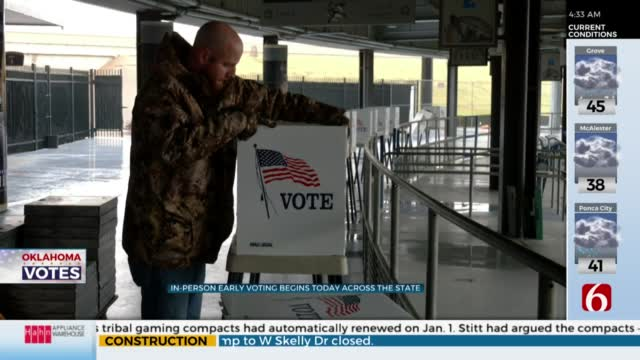 Early In-Person Voting Kicks Off In Oklahoma