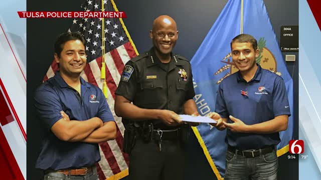 Local Convenience Store Presents Donation For TPD Officers Shot In Line Of Duty