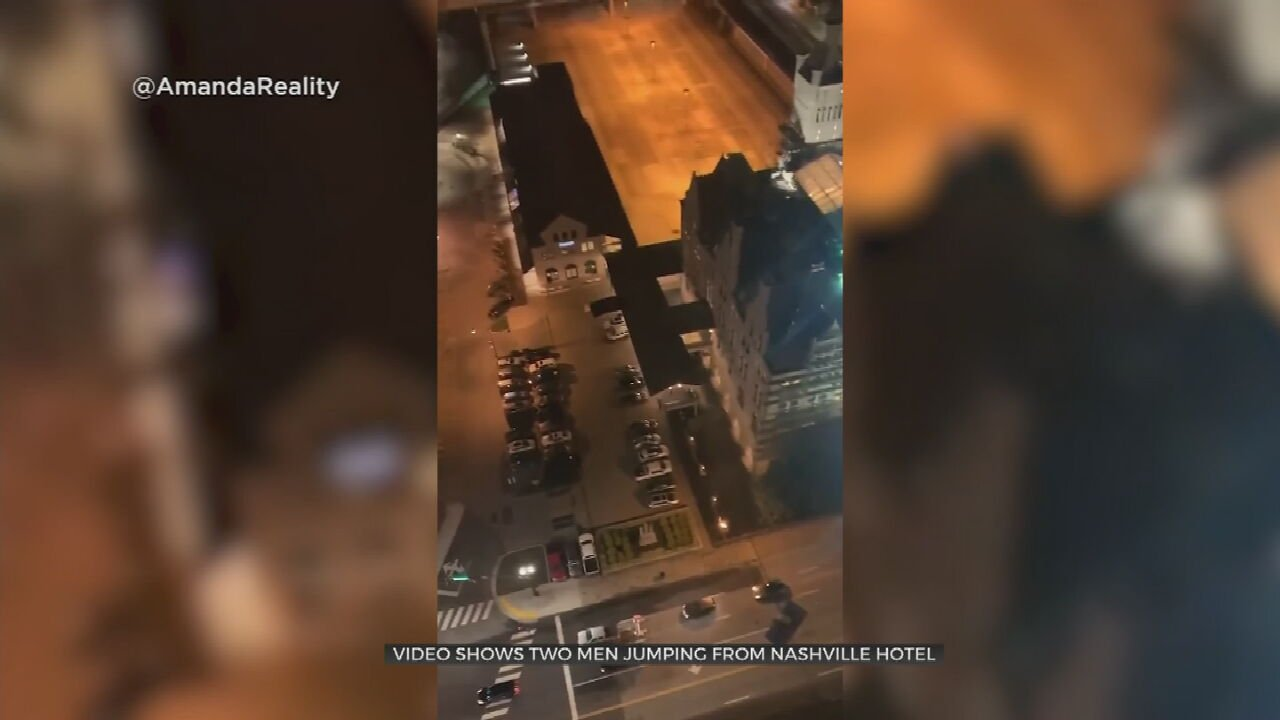 Watch: Two Men Base Jump From Hotel In Nashville