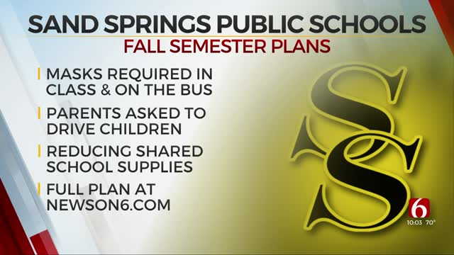 Sand Springs Schools Approves Strategies For Fall Semester