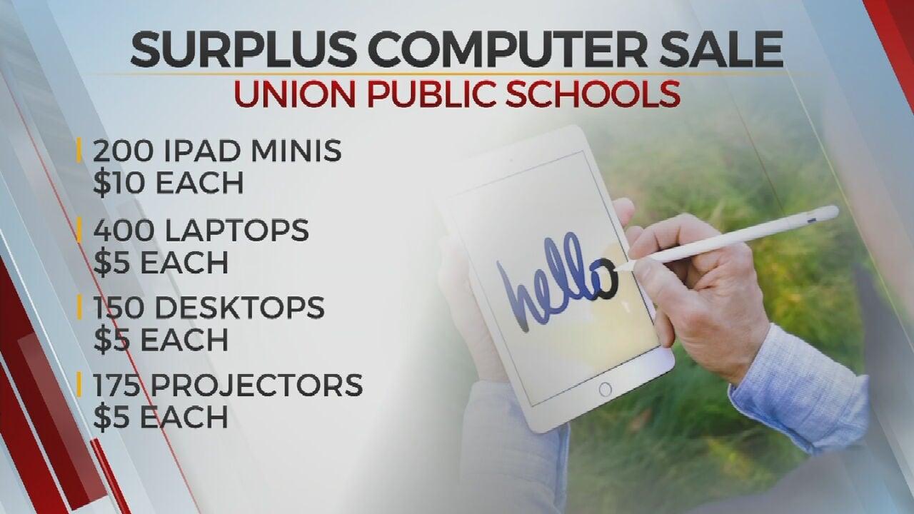Union Public Schools Holds Curbside Surplus Computer Sale