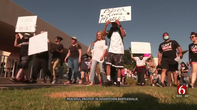 Hundreds March In Bartlesville To Protest After Death Of George Floyd