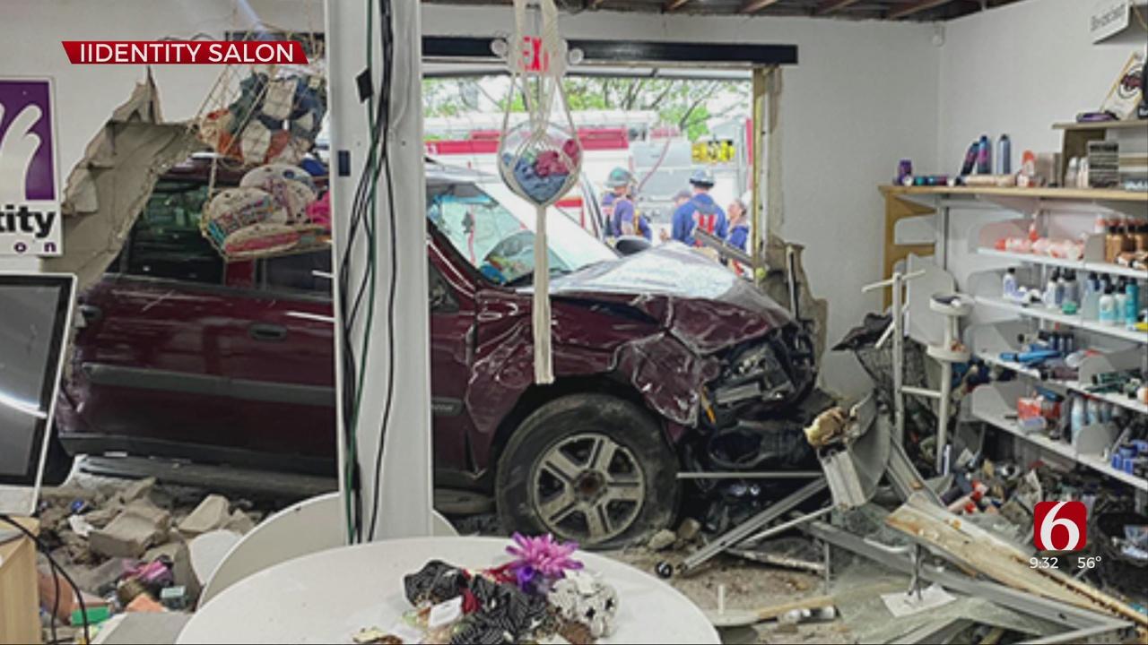 SUV Crashes Into Tulsa Salon; Police Searching For Driver
