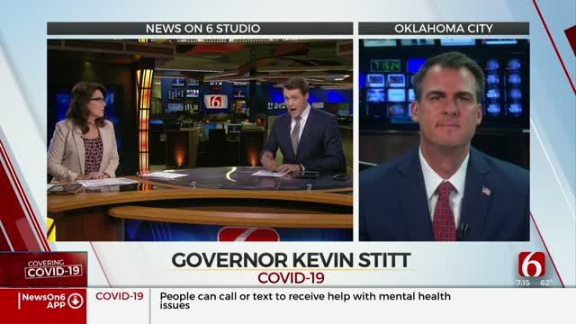 WATCH: Gov. Stitt Talks About Reopening Oklahoma, Coronavirus Respnse