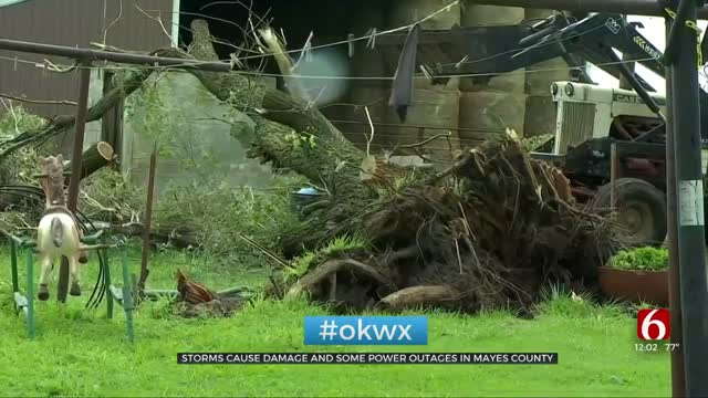 Severe Storms Leave Damage In Mayes County