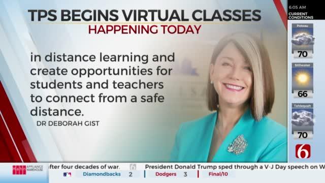 Tulsa Public Schools Starts Back To School With Virtual Classes