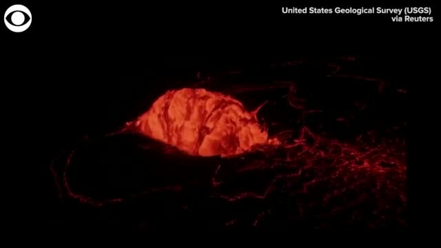 Watch: Lava Domed Fountain Forms In Hawaii