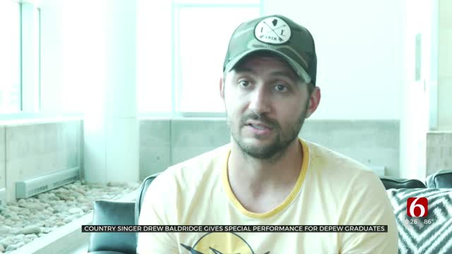 Country Singer Drew Baldridge Gives Special Performance For Depew Graduates