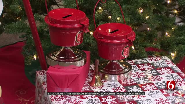 Salvation Army Starts Preparing For Christmas 6 Months Out