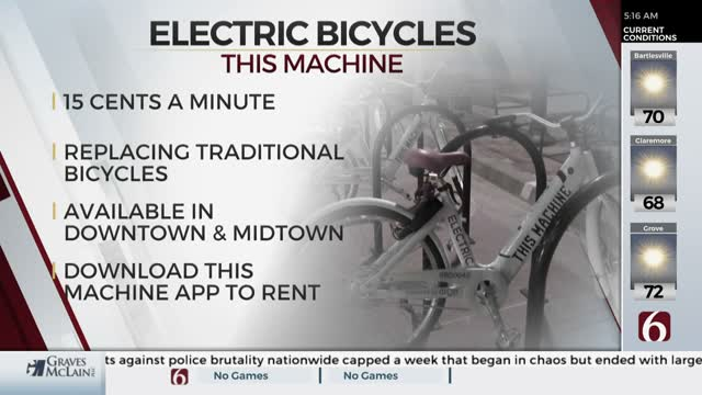 Tulsa Company Offers Rentable Electric Bicycles