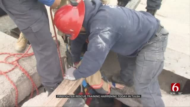 Oklahoma Firefighters Receive 'Invaluable' Search & Rescue Training In Tulsa