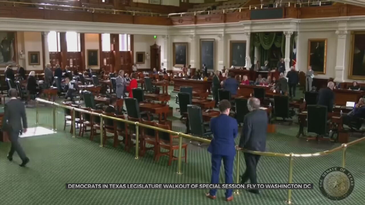 Texas Democrats Leave State To Prevent Vote On GOP Election Bill