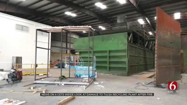 Tulsa Recycling Plant Process At Standstill As Crews Repair Fire Damage
