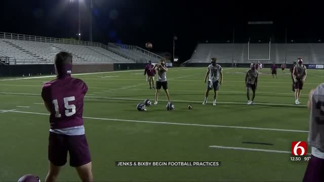 Jenks, Bixby Football Practices Begin With New Safety Measures In Place