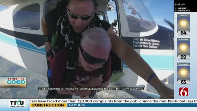 Oklahoma Veteran Skydives On 80th Birthday To Honor Fallen Hero