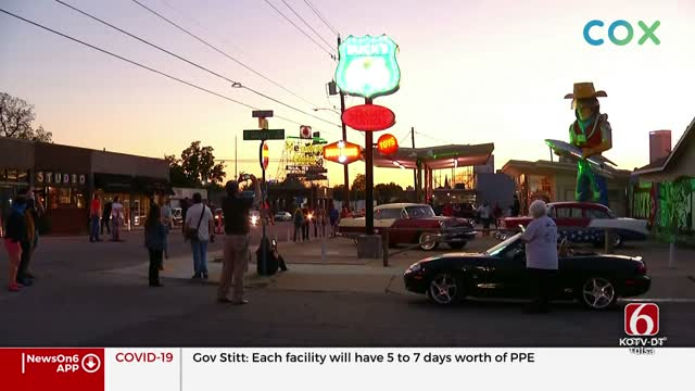 Buck Atom's Neon Sign Lights Up Route 66 In Tulsa