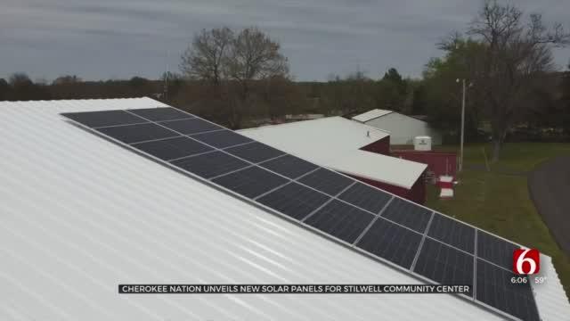Cherokee Nation Unveils Solar Panels For Community Center Near Stilwell