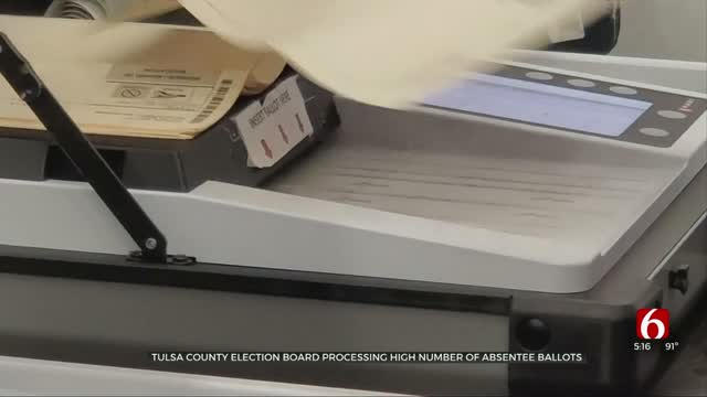 Tulsa Co. Election Board Processing Unusually High Number Of Absentee Ballots