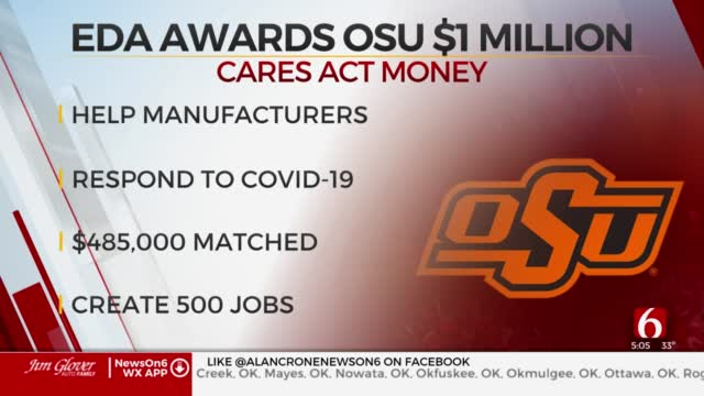 $1M In CARES Act Money Granted To Oklahoma State University To Aid Oklahoma Manufacturers