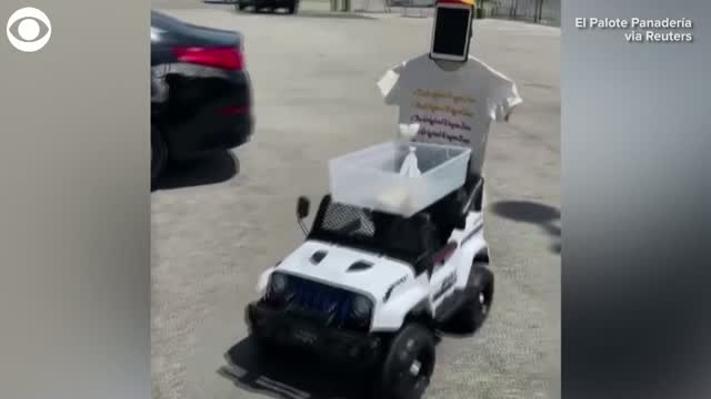 Watch: Restaurant Uses Delivery 'Robot' For Curbside Pickup