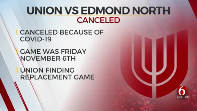 Union Football Game Against Edmond North Cancelled