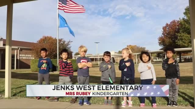 Daily Pledge: Jenks West Elementary