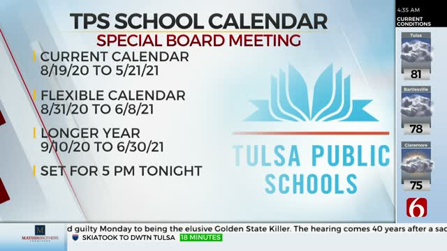 Tulsa Public Schools To Hold Meeting To Discuss COVID-19, Upcoming Calendar