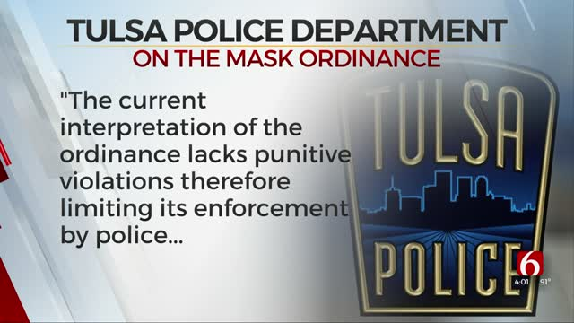 TPD Seeks Legal Opinion About Face Mask Ordinance