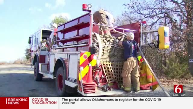 Green Country Volunteer Firefighters On High Alert With Wind, Dry Conditions