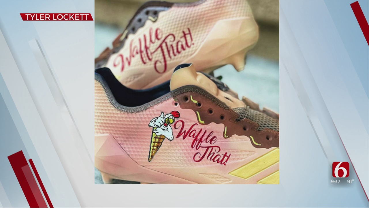 NFL Wide Receiver Tyler Lockett Pays Tribute To Tulsa Restaurant With Custom Cleats
