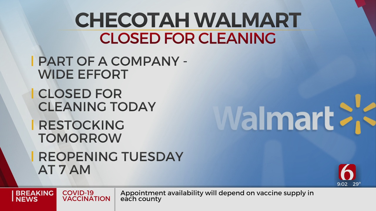 Checotah Walmart Closing Temporarily For Cleaning