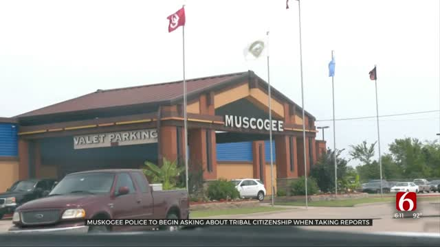 Muskogee Police To Begin Asking About Tribal Citizenship On Reports