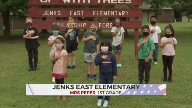 Daily Pledge: Mrs. Peper's 1st Grade Class