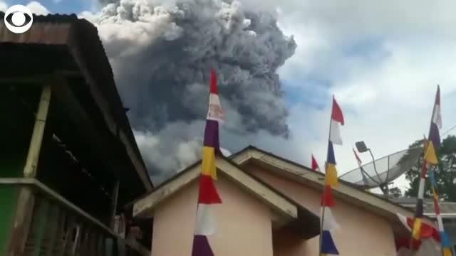 WATCH: Volcano Erupts In Indonesia