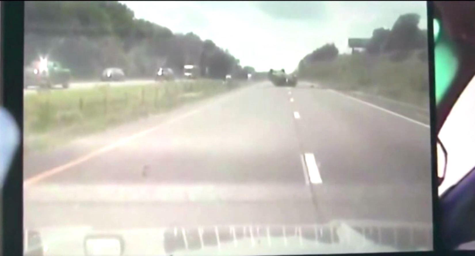 Image for Missouri Highway Patrol dashcam catches a close call