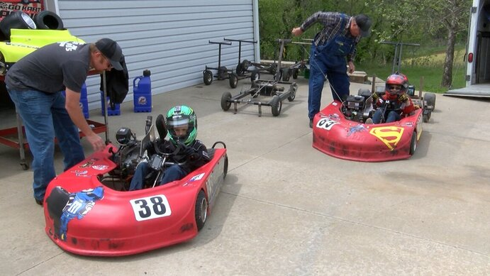 Image for Local siblings take home gold in go-kart racing