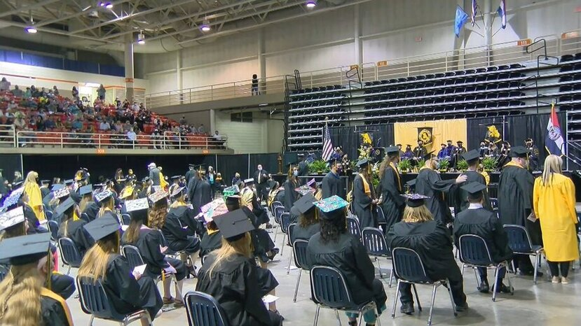 Image for MWSU commencement ceremonies held at Civic Arena