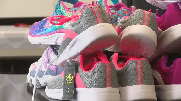 Image for Non-profit collects brand new sneakers for area kids in need