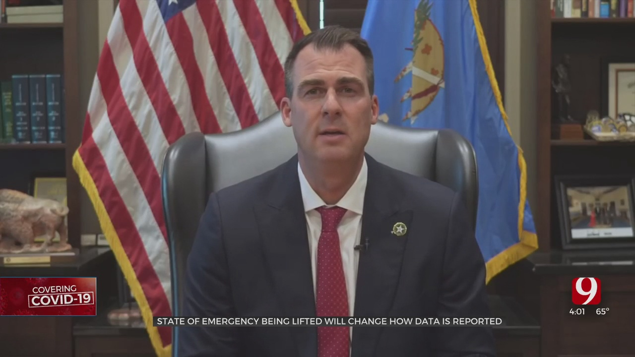 Changes To COVID-19 Reporting In Oklahoma To Happen As Gov. Stitt Lifts Emergency Declaration
