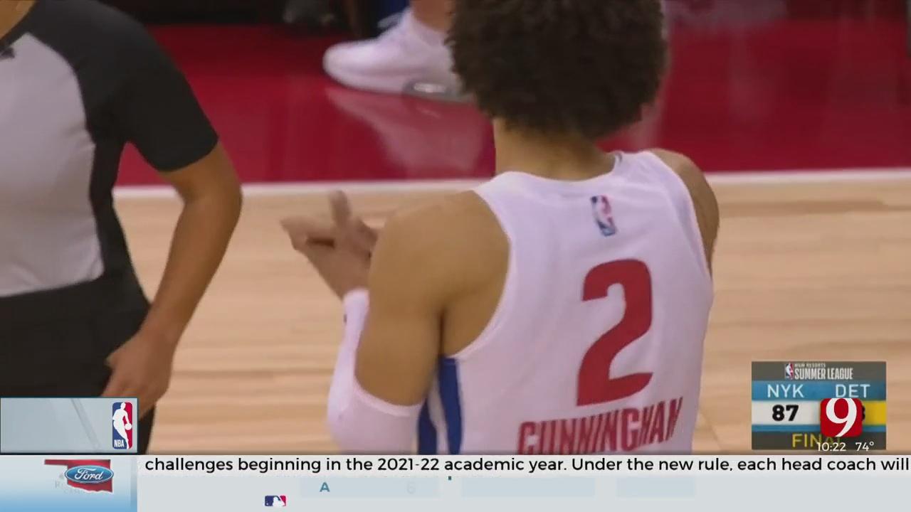 Former OSU Forward Cade Cunningham's Strong Effort Carries Pistons Over Knicks