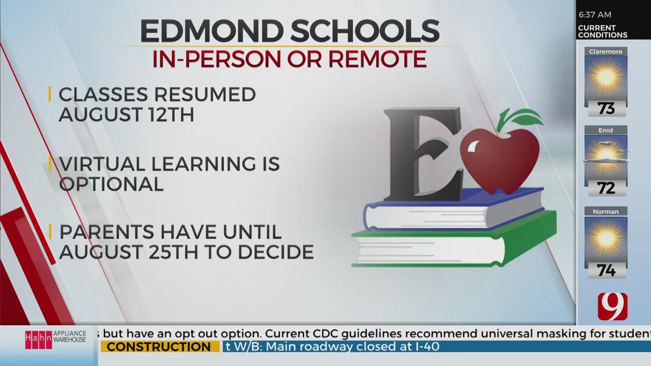Edmond Public Schools Deadline For Virtual Learning Is August 25